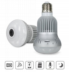 IP mini infrared 360 degree panoramic wireless light bulb spy camera