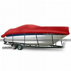 WindStorm High Profile Cabin Cruisers Boat Cover with Windshield and Bow Rails B