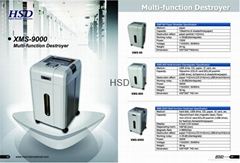 High securtiy 2 in 1 multi media data destruction machine