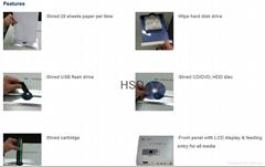 MH-2009 multi-function shredder & degausser