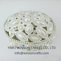 pewter jewelry box pearl trinket box home decoration gifts