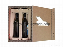 Natural paper wine box,high quality wine box