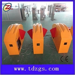 Waist high flap turnstile for children