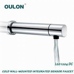 Cold wall-mounted integrated sensor Faucet
