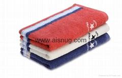 Jacquard yarn dyed face sport towel fabric turkish towel