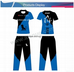 school uniform custom sublimated cricket uniforms