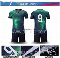 Embroidery patch custom printing custom football jersey soccer jersey