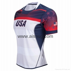 no minimum printed sublimation  custom design rugby jersey ireland