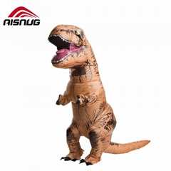 Jurassic World Dinosaur  Halloween Cosplstume Inflatable t rex Costume