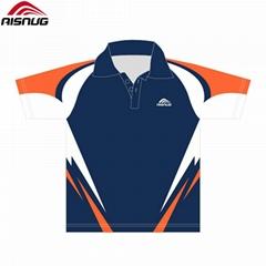 OEM custom printed sublimated golf polo t shirt white for men