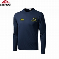 100% polyester dry fit dye sublimated custom fishing jersey