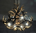 Deer antler resin chandelier 8 lights