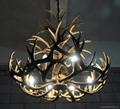 Deer antler resin chandelier 8 lights