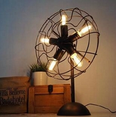 RH LOFT industry fan lamp edison