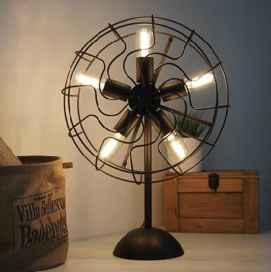 RH LOFT industry fan lamp edison lighting 2