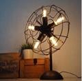 European style Loft RH decorated fan