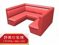 杭州定做餐廳卡座沙發