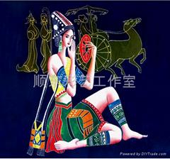 景泰藍現代民俗風格裝飾畫