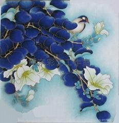 景泰藍琺瑯現代裝飾彩沙畫