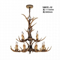 Deer antler resin chandelier