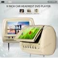9'' digital panel headrest DVD for car