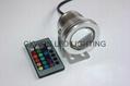 led Underwater rgb remote control lamp 12/24v decoration pool lights 2