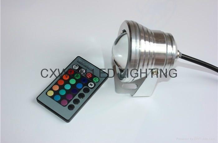 led Underwater rgb remote control lamp 12/24v decoration pool lights 5