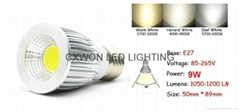 COB GU10 Led 5W 7W 9W bulbs light dimmable E27 E26 E14 MR16 led