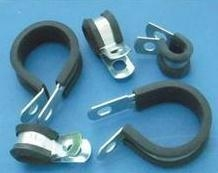 丹棱R型线夹R型半包胶电缆固定夹