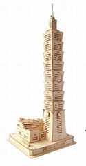 Taipei 101 building world architecture wooden model