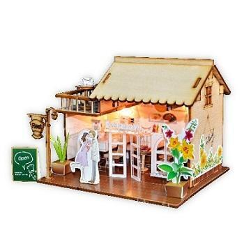 Restaurant building plan toy wood model  DIY house 1