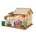 Restaurant building plan toy wood model