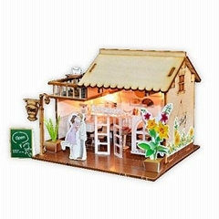 Restaurant building plan toy wood model  DIY house