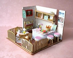 Restaurant plan toy  DIY sets doll house