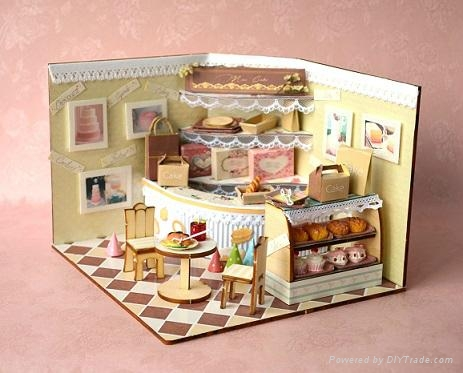 Cake Shop Doll House Plan Toy Model Building Diy House China