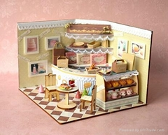 cake shop   doll house   plan toy   model building  DIY house