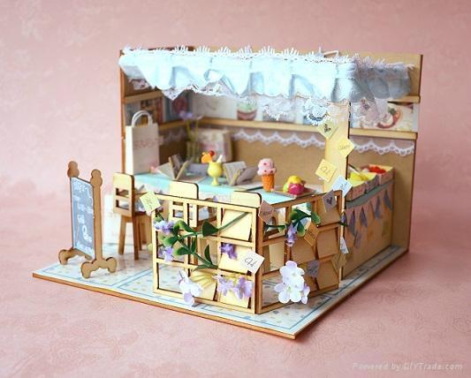 Ice cream house   plan toy   model building   DIY house  wooden  art 1