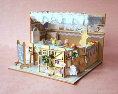 Ice cream house   plan toy   model building   DIY house  wooden  art
