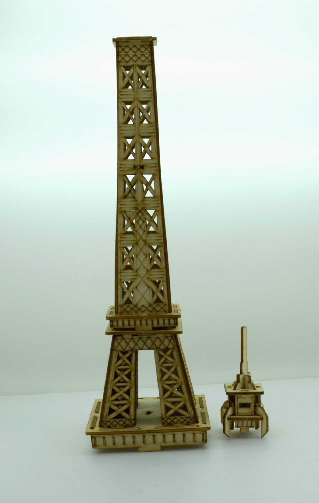 Eiffel tower world architecture plan toy   wooden model 3