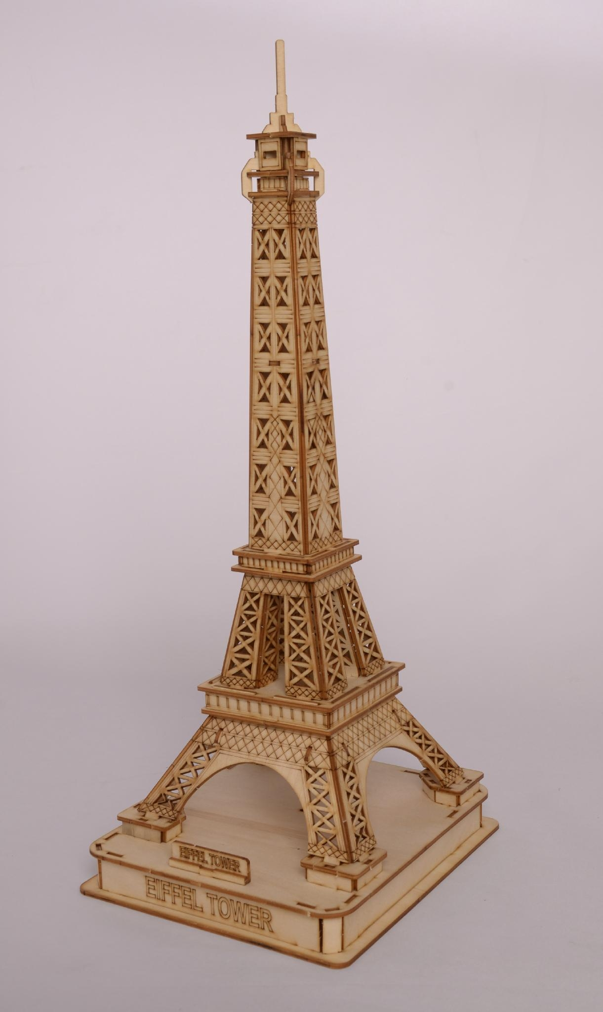 Eiffel tower world architecture plan toy   wooden model 4