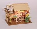 Restaurant building plan toy wood model  DIY house 4