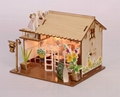 Restaurant building plan toy wood model  DIY house 3