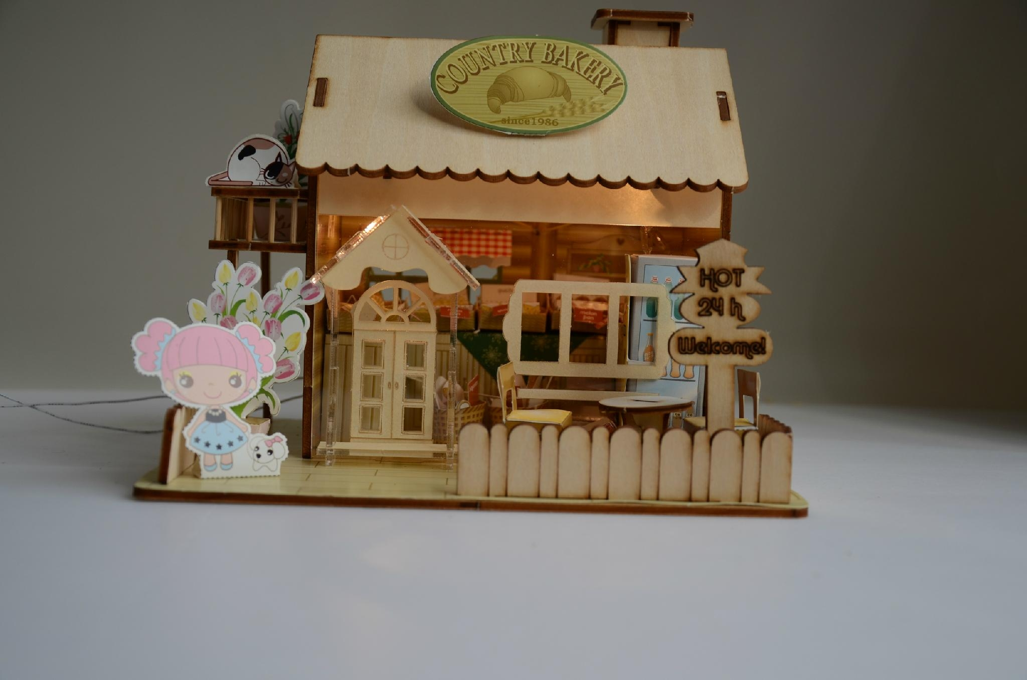 Home Decor Suppliers China Wooden Model Plan Toy Puzzle 3d Diy House Bm 519 Merry