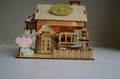 wooden model  plan toy   puzzle 3D   DIY house 3