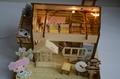 wooden model  plan toy   puzzle 3D   DIY house 5