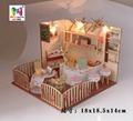 Restaurant plan toy  DIY sets doll house 2