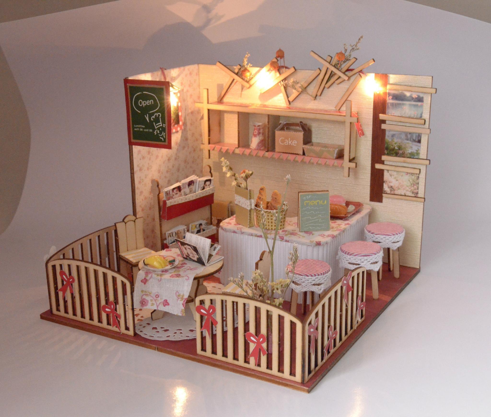 Restaurant plan toy  DIY sets doll house 5