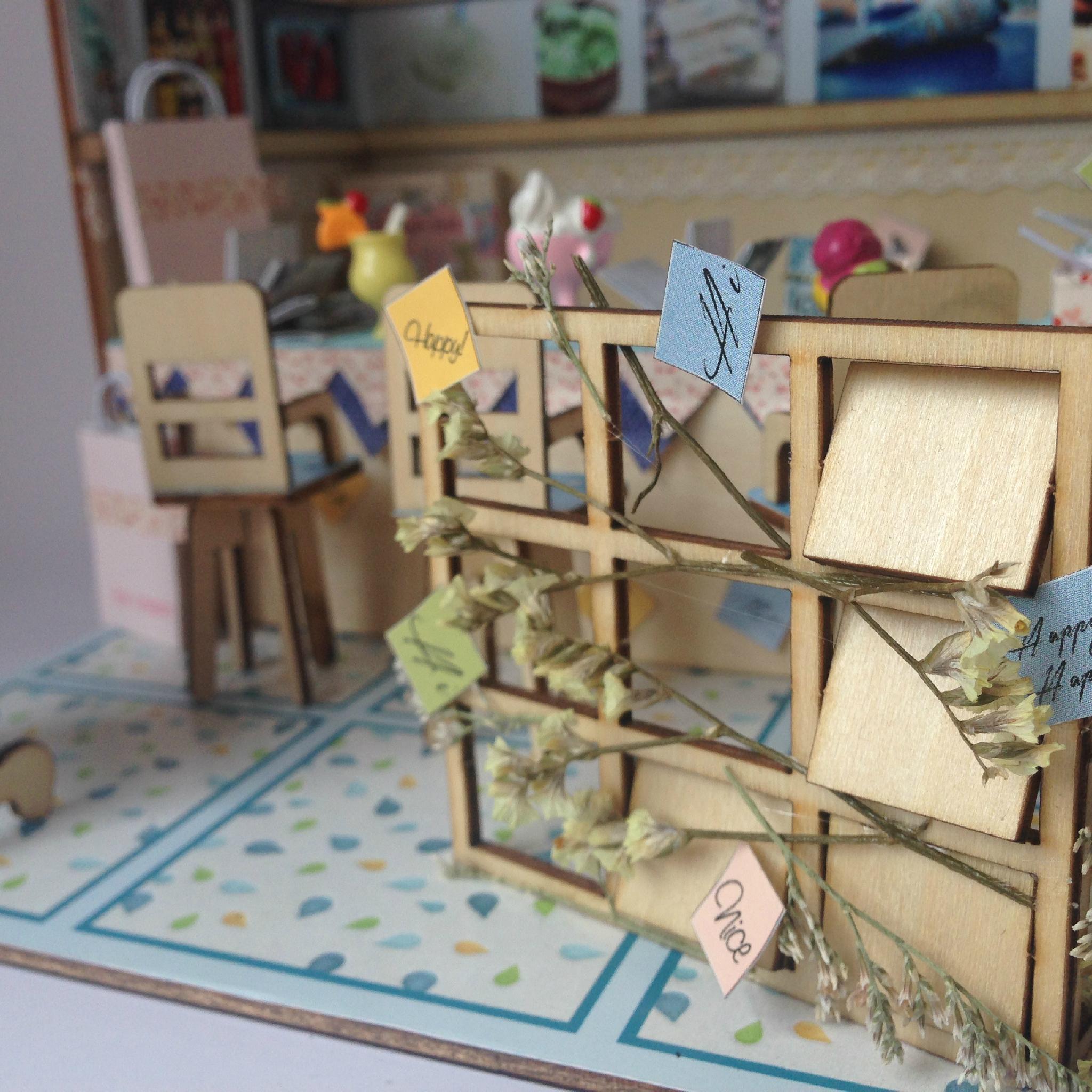 Ice cream house   plan toy   model building   DIY house  wooden  art 5
