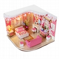 wooden doll house  plan toy  model building  puzzle 3D  4
