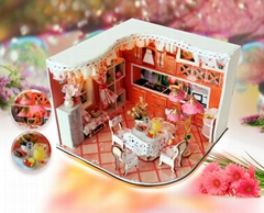 sweet home  wooded doll house   plan toy  model building   DIY house
